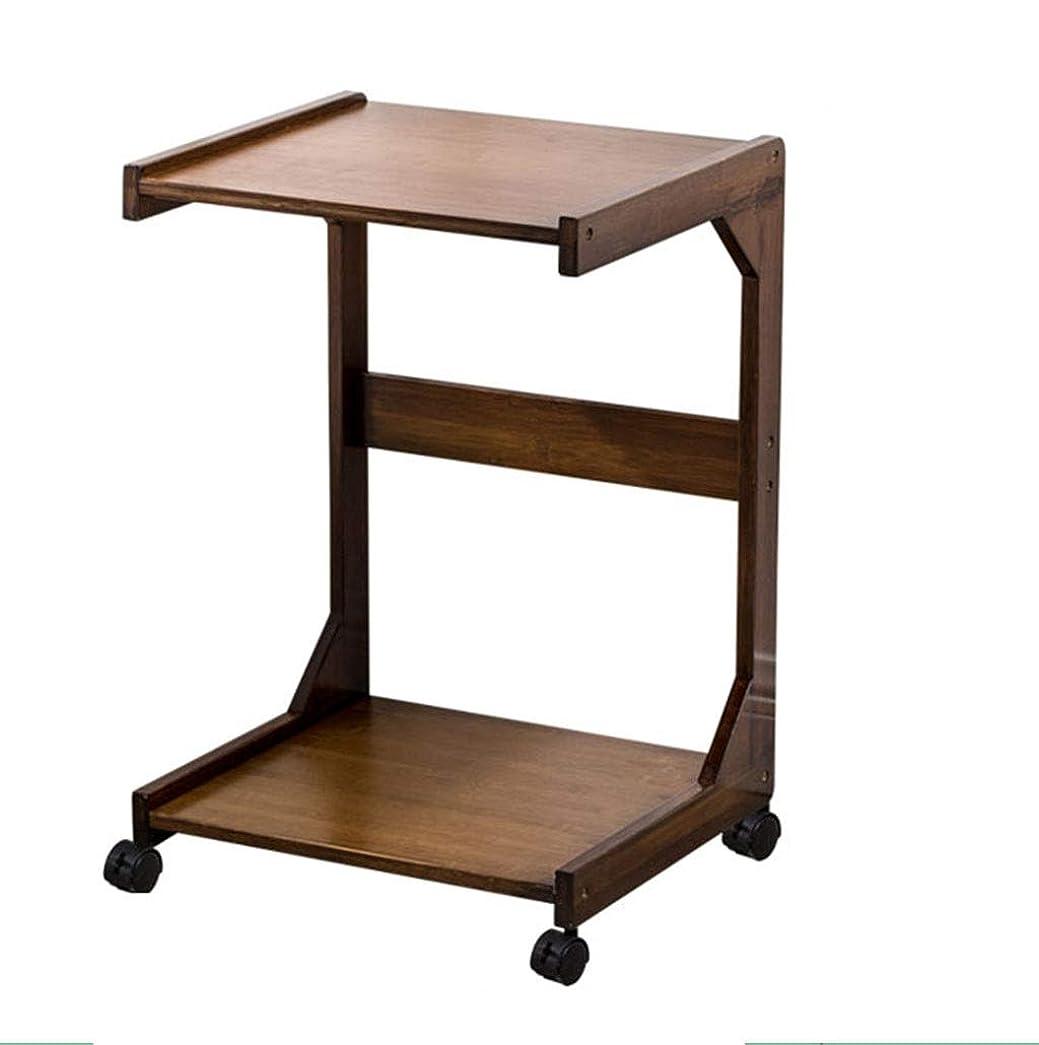 楕円形標準モザイクこれは、移動することができますダブルストレージラック、プーリー木製ホワイトデスクトップコーヒーテーブル小さなアパートのレセプションルーム装飾家具 (Color : A, Size : 50*37.5*63CM)