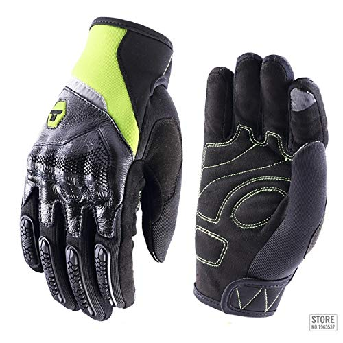 Guantes Antideslizantes Deportivos Motorcycle Gloves Men Women Full Finger Touch Screen Moto Motocross Glove XL M30Green Entrega Rápida Y Gratuita