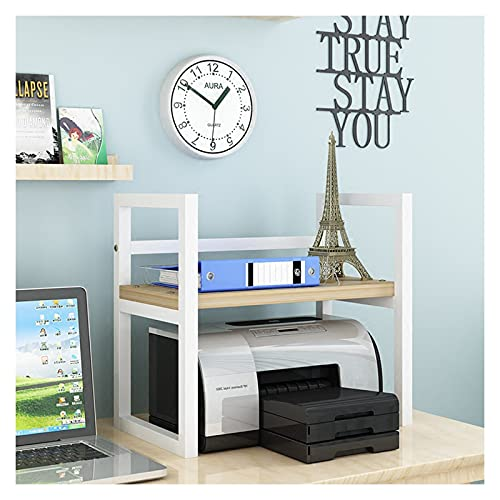 Soporte de Impresora Impresora Stands con almacenamiento, escritorio de espacio de trabajo Organizadores de papel de escritorio 2 niveles de madera impresora de madera SHLEF para la organización de of