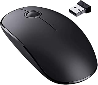 VicTsing Wireless Mouse, 2.4 G Slim Cordless Mouse with Noiseless Click, Computer Mouse with Nano Receiver for Laptop, PC,...