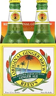 Reed'S Ginger Ale Original Ginger Brew Soda, 12 Ounce (24 Glass Bottles)