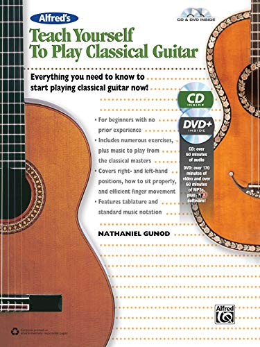 Alfred's Teach Yourself to Play Classical Guitar - Everything You Need to Know to Start Playing Classical Guitar Now! (incl. CD & DVD): Everything You ... Now!, Book & Online Video/Audio/Software