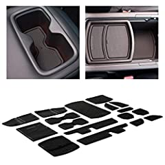 ✅NEW CAR LUXURY THAT LASTS - Our custom Accord car interior liners and cup holder mats are engineered in the USA with a unique design that offers a precise fit you won't find elsewhere, perfectly placed tab handles for easy removal, a sleek mods look...