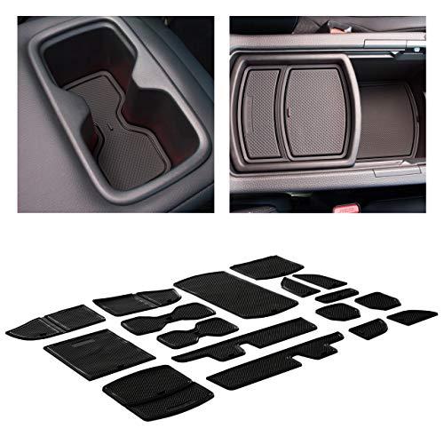 CupHolderHero for Honda Accord Accessories 2018-2022 Premium Custom Interior Non-Slip Anti Dust Cup Holder Inserts, Center Console Liner Mats, Door Pocket Liners 17-pc Set (Black Trim)