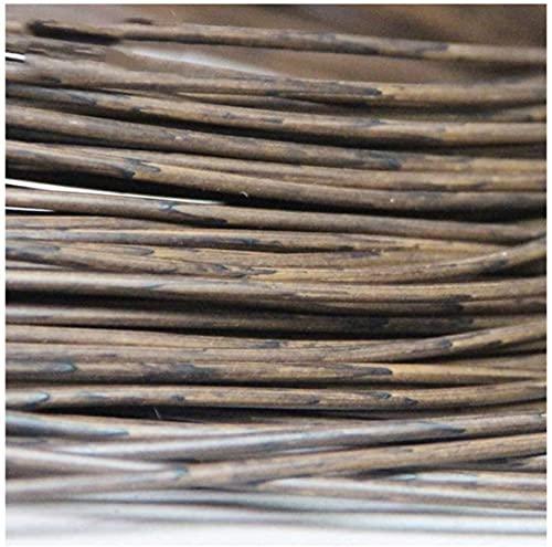 3MM Ratán Tejido Redondo, 500~65m Material De Reparación Tejido De Plástico PE Marrón, Adecuado para Muebles De Jardín, Cestas De Almacenamiento, Materiales De Bricolaje ( Color : F , Size : 2pcs )