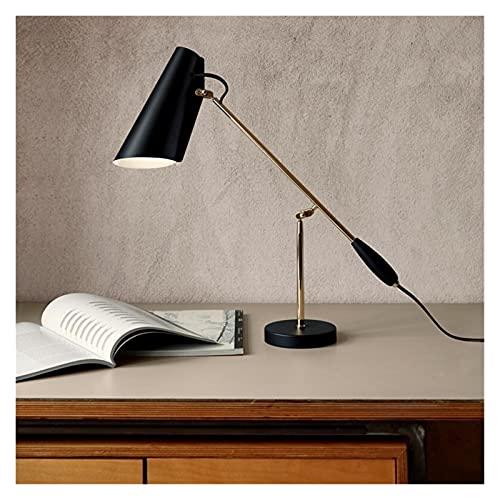 Reading Light,Luz De Lectura Habitación de hotel Cama Cabecera Cabecera Larga Brazo Designer Dorado Readición Estación de ajuste creativo Lámpara (Color : Black)