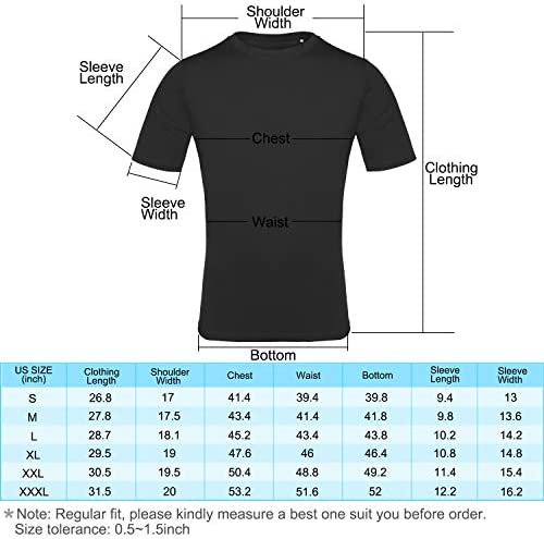 EAGEGOF Men's Tech Short Sleeve T-Shirt Slim Fit Performance Athletic Sports Tee