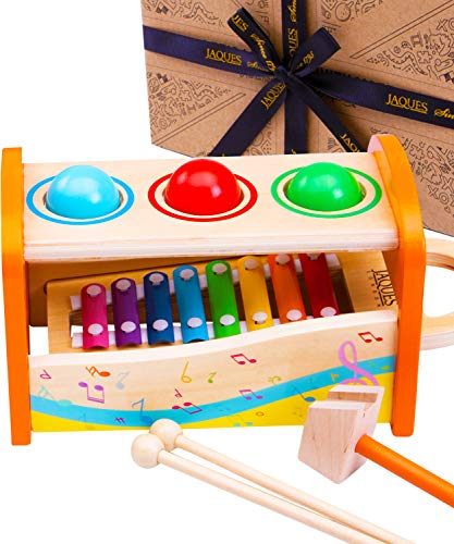 Jaques of London Xylophone Bench   Wooden Musical Toys for Boys and Girls   Toddler Toys   Top Creative Musical Baby Toys   Since 1795