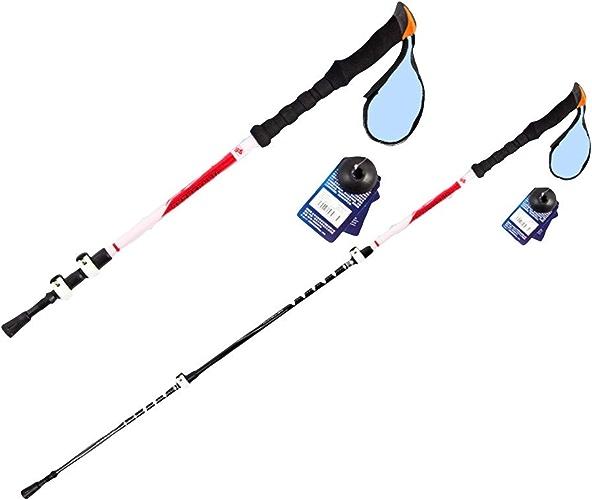 Canne de Trekking, baton de voiturebone, Super légère à Trois Sections télescopique pour extérieur