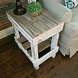 Del Hutson Designs Reclaimed Wood Slim End Table, Natural (NAT/WHT)