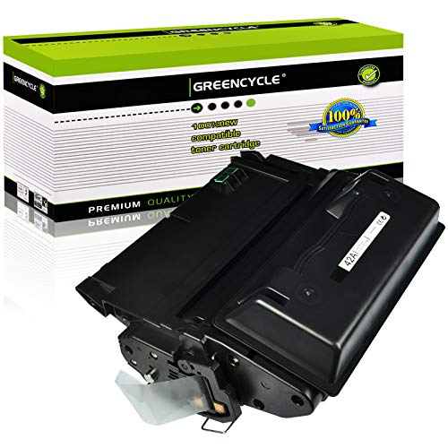 GREENCYCLE 1 Pack 10,000 Pages Compatible Black Toner Cartridge Replacement for HP Q5942A Q5942 42A Used for Laserjet 4200 4240 4250 4250TN 4250N 4250DTN 4300 4350 4345MFP 4350N 4350TN 4350DTN