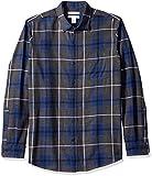 Amazon Essentials Chemise à manches longues en flanelle tissu écossais pour homme Coupe classique, Blue (Blue/Charcoal...