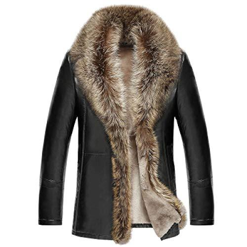 SXDQSZ Chaqueta de plumasChaqueta de Cuero para Hombre 2020 Abrigo de Lujo de Invierno para Hombre Chaqueta de Cuero de Segunda Capa Pa