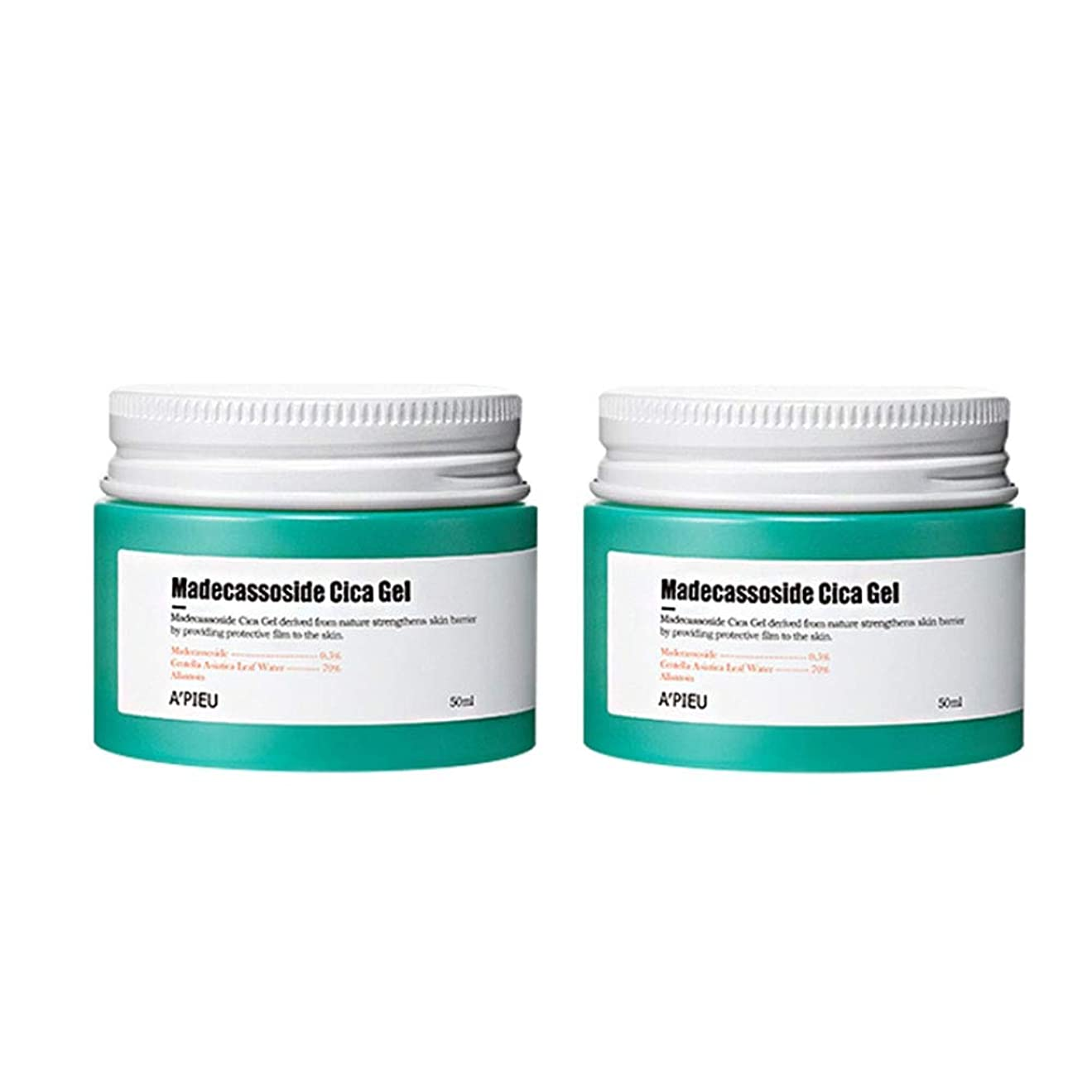 ターゲット注入ネットオピュマデカソサイドシカゲル50ml x2本セット皮膚の損傷の改善、A'pieu Madecassoside Cica Gel 50ml x 2ea Set Skin Damage Care [並行輸入品]