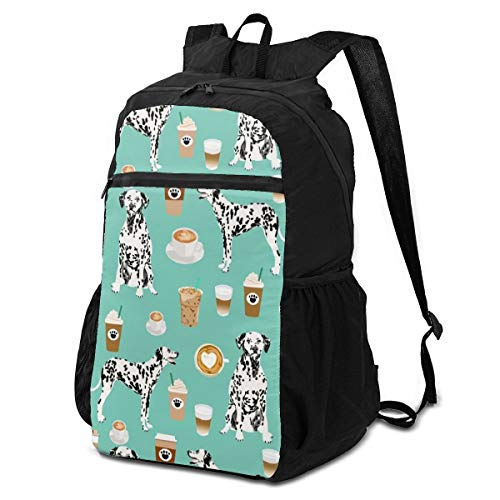 Tactical Travel Backpack, Anti Theft Heat Dissipation Cute Mint Coffee Best Dalmatian Dog Rucksack, Supreme Storage Bag For Lunch Box Fishing Camp