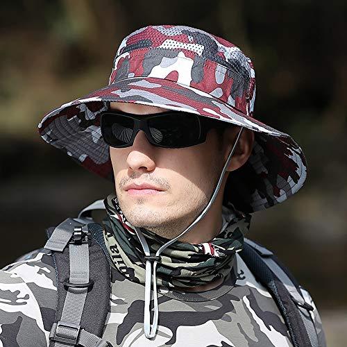 Sucap Estilo de Camuflaje Diseño de Rejilla Respirable Sombrero de Sol Casual...