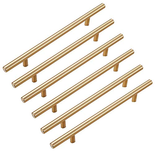 Creatwls 6 Stück Schrankgriff Stangengriffe Zink-Legierung Möbelknopf Griffe Set Möbelbeschläge Modern Stil Schubladegriff Möbelgriffe Schrankgriffe Kommodengriff