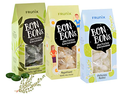 Frunix Bonbons ohne Fructose und Zuckeralkohole 3er Set Kräutermischung