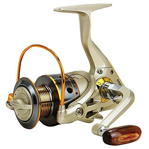 LBZE Spinning Carrete de Pesca, Izquierda/Derecha Intercambiable ...