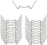 longyisound 25 pinzas de alambre para acristalamiento de invernadero, grapas de acero inoxidable para placas de cámara hueca, planchas de doble puente