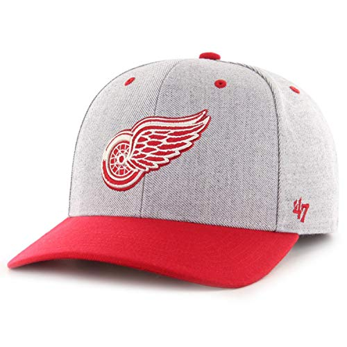 47 Brand Forty Seven Detroit Red Wings NHL Storm Cloud TT MVP DP Charcoal Curved Visor Snapback Cap Limited Edition