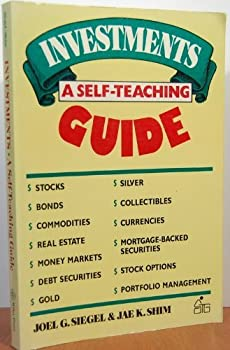 Paperback Investments: A Self-Teaching Guide (Wiley Self Teaching Guides) Book