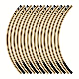 Etiquetas de calcomanías de las ruedas de la motocicleta Establecer rayas laminadas para Kawasaki Z125 Z250 Z300 Z650 Z750 Z800 Z900 Z1000 (Color : Brown)