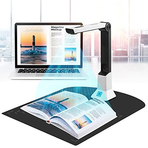 ETE ETMATE Escáner Portátil De Alta Definición, Cámara De Documentos Con Función De Grabación De Vídeo De Proyección En Tiempo Real, Tamaño De Escaneo A4 Del Escáner.