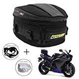 Motorcycle Tail Bag Waterproof Luggage Multifunctional Saddle Bags Powersports Motorcycle Rear Seat Backpack Accessories Tear-Resistant Dual Use 10L Capacity for Universal Fit
