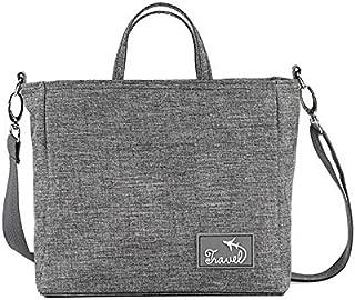 Vioaplem Fashion Oxford Cloth Medium Size Top Handle Shoulder Messenger Corssbody Bag for Ladies (Color : Grey)