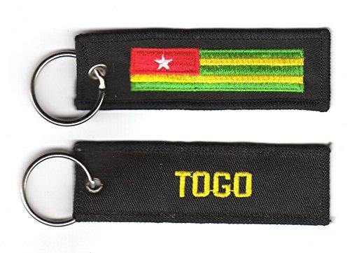 Schlüsselanhänger Togo Anhänger Fahne Flagge FLAGGENMAE®