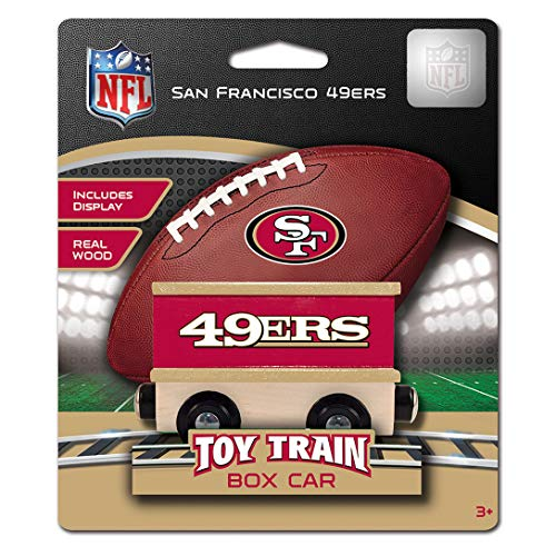 Baby Fanatic MasterPieces NFL San Francisco 49ers Real Wood Boxcar Toy Train with Magnets