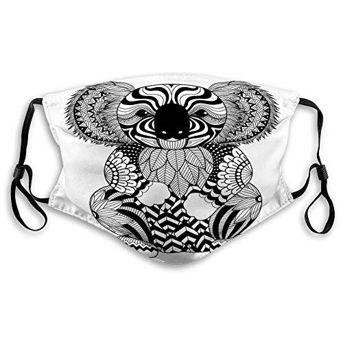 Unisex s Waschbarer wiederverwendbarer Zeichnung Zentangle Koala Malvorlagen Effekt Logo Dekoration