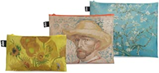 LOQI VAN GOGH Gogh Museum Zip Pockets Portamonete, 32 cm, 1 liters, Multicolore (Self Portrait, Almond Blossom, Sunflowers)