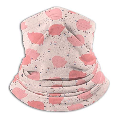 LiGHT-S Fleece Nackenwärmer Gamasche Rosa Schwein Muster Weiche Mikrofaser Kopfbedeckung Gesicht Schal Maske Für Winter Kaltes Wetter & Warmhalten Für Herren Damen