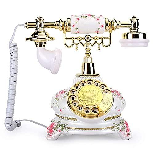 Teléfono Retro Llamada de Alta definición Estilo Rural Retro Disco de Disco Giratorio Teléfono Vintage con Cable Teléfono Fijo para la decoración de la Oficina en casa Teléfono Fijo Antiguo