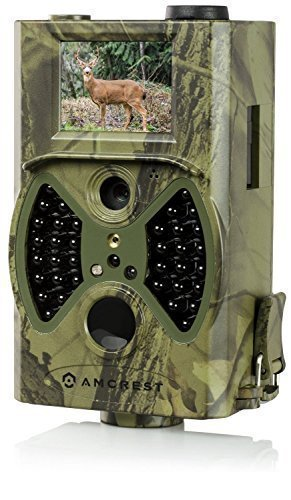 Amcrest ATC-1201 12MP Digital Game Cam Trail Camera with Integrated 2' LCD Screen (Camo Green)