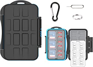 (36 Slots) VKO SD SDHC SDXC Micro SD TF Memory Card Case Holder Organizer Carrying Box Keeper,Shockproof Storage Protector Cover for Computer Camera Media 12 SD Cards