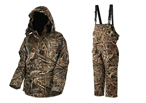 Prologic –Bequemer Thermo-Angelanzug Max 5 mit Camouflage-Muster–Jacke und Latzhose, 2-teilig L camouflage