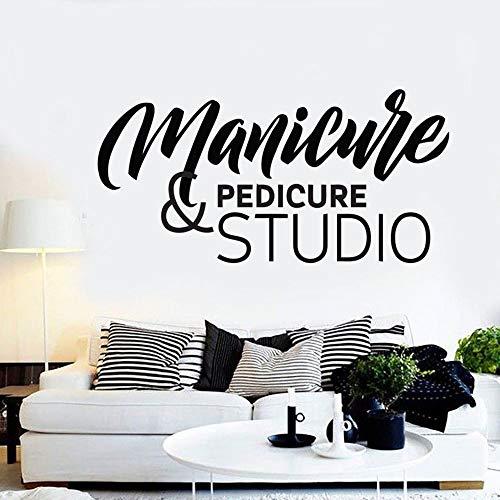 Manicura etiqueta de la pared arte etiqueta de la pared salón de belleza decoración de la habitación patrón de estudio de pedicura