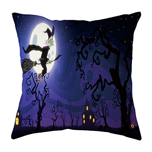 LOKODO Halloween Throw Pillow Cover for Car Sofa Bed Couch Bedroom Decoration Geometric Design Cushion Square Pillowcase