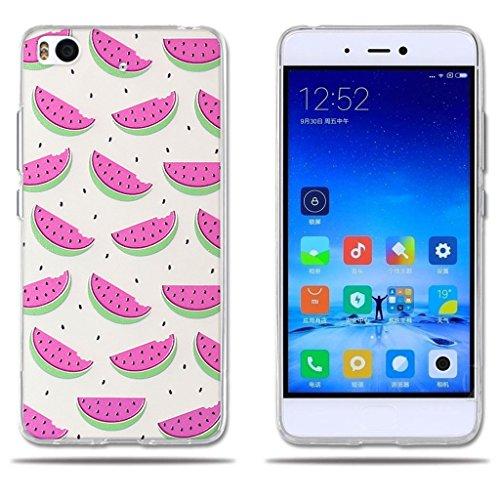 FUBAODA, Funda para Xiaomi Mi5S, Carcasa de Silicona,Ultra Suave con Cubierta Protectora, Dibujos Animados, Durable,[ [Protección Goma Funda para para Xiaomi Mi 5S (5.15