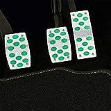 ZHT 3 en 1 Grande Luminoso Antideslizante automática de Engranaje del Coche Pedales Pastilla Cover Set