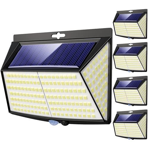 4 Pack Solar Lights Outdoor, 3 Modes/228LED Solar Security Lights Wireless IP65 Waterproof Solar Motion Sensor Lights Solar Wall Lights Outdoor Lights for Front Door, Backyard, Garage, Deck…