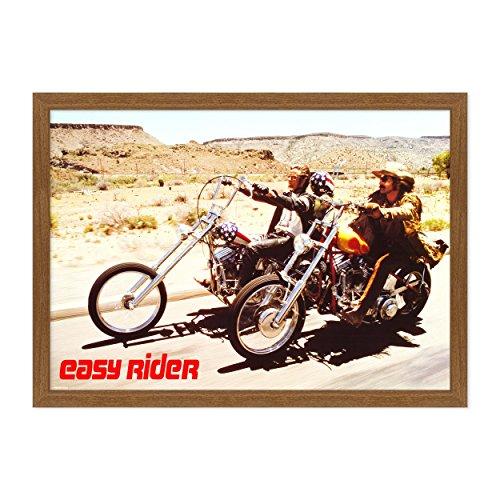 ConKrea - Póster original de cine con marco – enmarcado – Easy Rider
