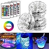 StillCool Unterwasser Licht Unterwasserbeleuchtung Multicolor RGB Controller Leuchte Deko Licht für Garten, Aquarium, Vase, Badewanne, Pool oder Spa
