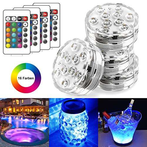 StillCool Unterwasser Licht Unterwasserbeleuchtung Multicolor RGB Controller Leuchte Deko Licht für Garten, Aquarium, Vase, Badewanne, Pool oder Spa