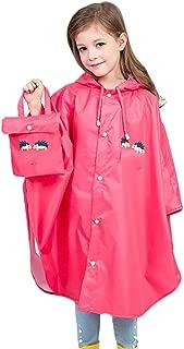 Kids Raincoat Yellow Lightweight Waterproof Rain Jacket Coat with Hooded for Girls Boys,Portable Poncho Rainwear