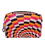 Bennigiry - Neceser de maquillaje en espiral, multicolor, con ilusión óptica, bolsa de aseo de viaje, bolsa de maquillaje portátil para mujeres y niñas