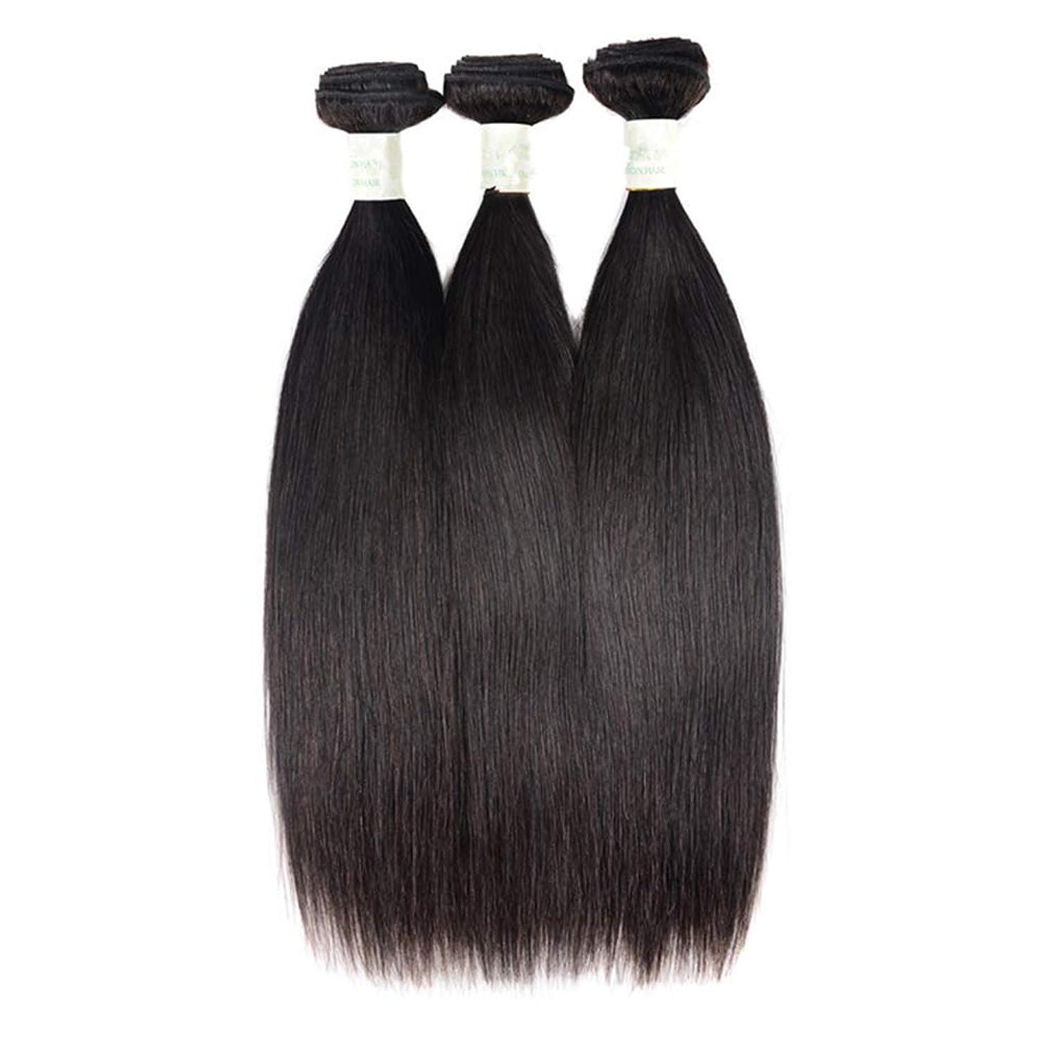 サミットヒロインただやる3バンドル人間の髪織りバンドルグレード8Aブラジルバージン毛延長横糸レミーストレート#1Bナチュラル